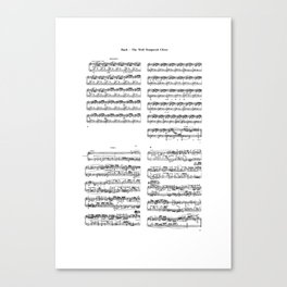 well-tempered clavier Canvas Print