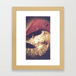 Rockabilly Skull Framed Art Print