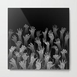 Halloween Horror Zombie Hand Pattern Metal Print