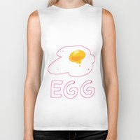 egg Biker Tanks featuring EGG by lemonteaflower