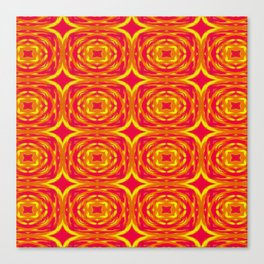 Red, Orange and Yellow Stars 7362 Canvas Print