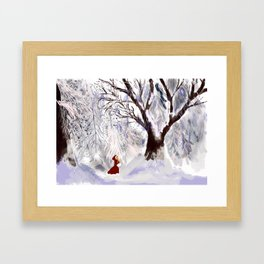 Winter Princess Framed Art Print