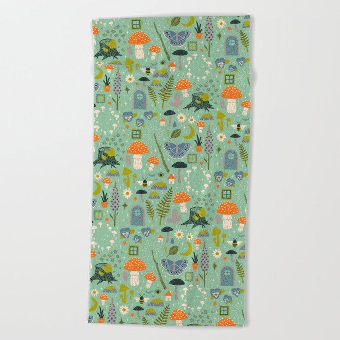 Fairy Garden Beach Towel