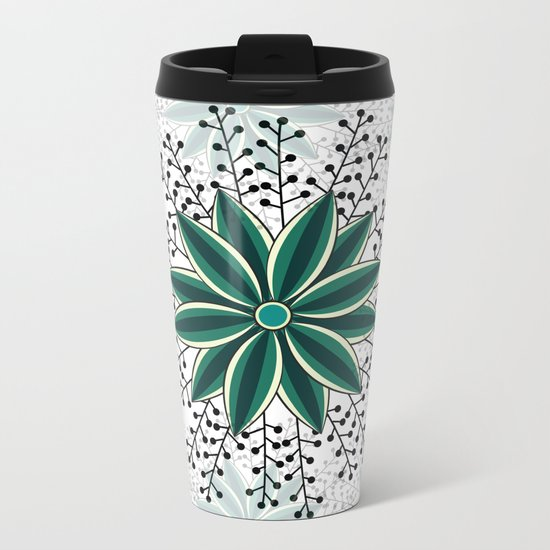 Pattern V Metal Travel Mug