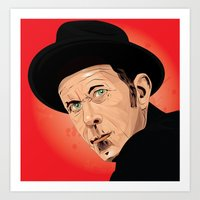 tom waits Art Prints featuring Tom Waits by Brian Madden