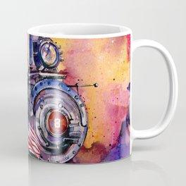 American Train by Kathy Morton Stanion Coffee Mug