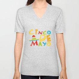 Cinco De Mayo - May 5th Mexican Pride Sombrero Unisex V-Neck