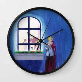SANJI in the rain | One Piece | Print | Painting Poster | Charlotte Pudding | 817 | ANIME | MANGA #A Wall Clock