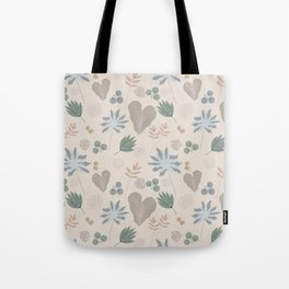 Muted Garden Greenery and Blooms Tote Bag