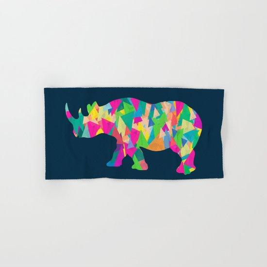 Abstract Rhino Hand & Bath Towel