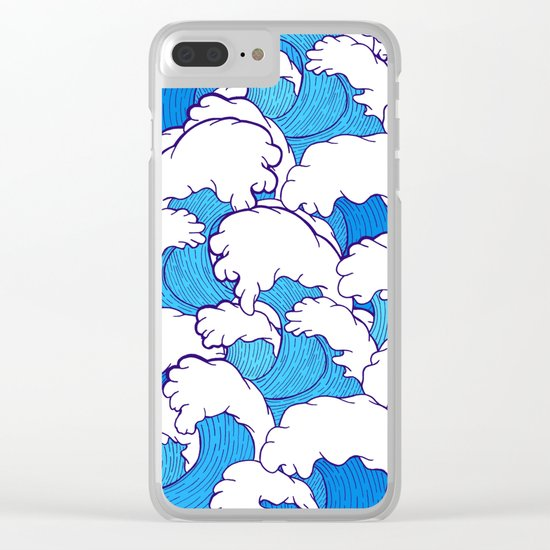 Waves of the high tide Clear iPhone Case