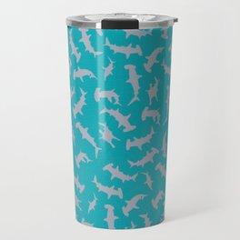 Ben-Day Dot Hammerhead Shark Pattern Travel Mug