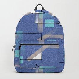 Blue Geo Backpack