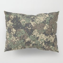 Wolf paw prints camouflage Pillow Sham