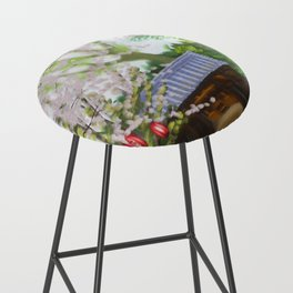 Cherry trees in Japan Bar Stool