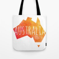 australia Tote Bags featuring Australia by Stephanie Wittenburg