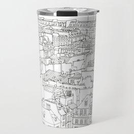 Rooftops of Paris, France _ Illustration _ Drawing _ Travel _ Rooftops Travel Mug