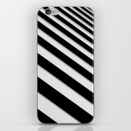 Perspective Solid Lines - Black and White Stripes - Digital Illustration - Artwork iPhone Skin