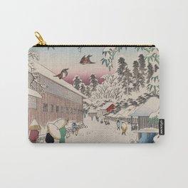 Atagoshita Yabu Lane Snow Scene Vintage Ukiyo-e Japanese Art Carry-All Pouch