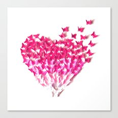 Heart can fly Canvas Print