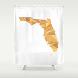 Florida Pattern Map Art Shower Curtain