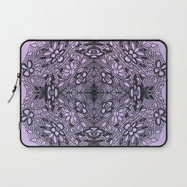 Black Lace Mandala Laptop Sleeve