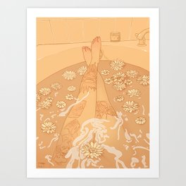 Flower Bath 10 (censored version) Art Print