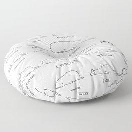 Moody Animals Pattern Floor Pillow