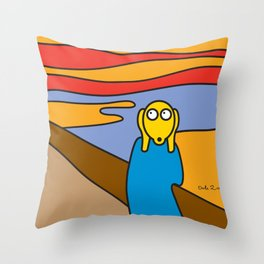 ooh Zoo – art-series, Munch Throw Pillow