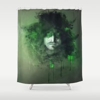 arrow Shower Curtains featuring Arrow by Rose's Creation