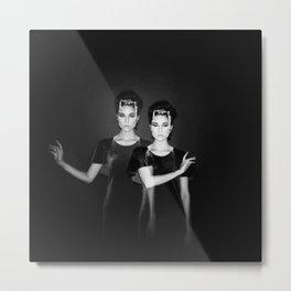 Casstronaut & The Bird Bones - Holga Black and White Double Exposure  Metal Print