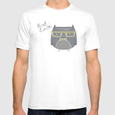 Clever owl White Mens Fitted Tee MEDIUM