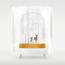 Deer  Snow Ball Shower Curtain