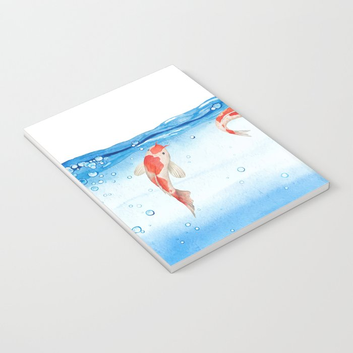 Happy koi fish- fishes sea water lake Notebook