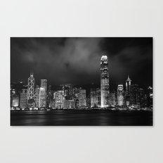 Hong Kong Skyline [Black & White] Canvas Print