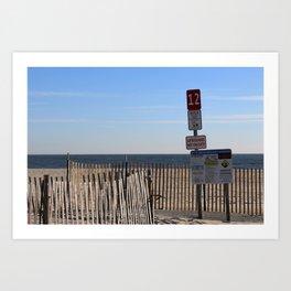 Beach Closed Art Print