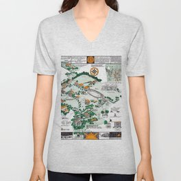 SYRACUSE campus map NEW YORK dorm decor graduate Unisex V-Neck