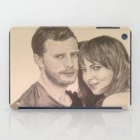 allyson johnson iPad Cases featuring Jamie Dornan - Dakota Johnson by Virginieferreux
