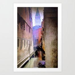 Venice Watercolour Art Print