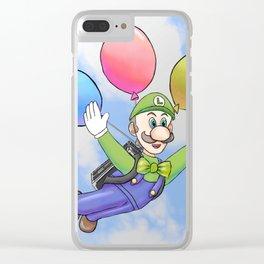 Luigi's Balloon World Clear iPhone Case