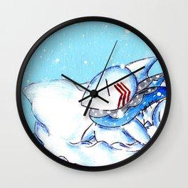 Seaside Snowfall Wall Clock