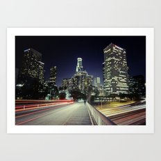 Black River, Your City Lights Shine Art Print