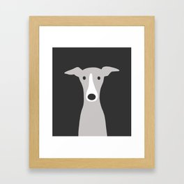 Cute Greyhound / Italian Greyhound Framed Art Print