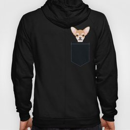 Misha - Chihuahua art print phone case gift for dog owner and dog people Hoody