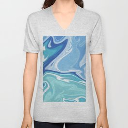 MARBLE - SEA - CLOUDS - SMOKE - WAVES Unisex V-Neck
