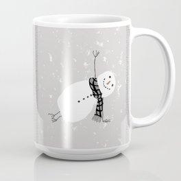 Snowman Yoga - Side Planck Coffee Mug