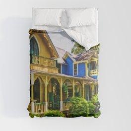 Martha's Vineyard Cottages Portrait Painting Comforters