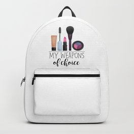 My Weapons Of Choice  |  Makeup Backpack