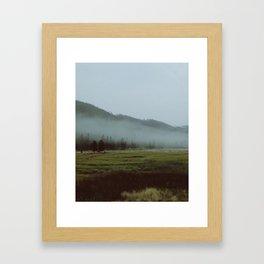 YNP fog 1 Framed Art Print