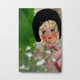 Paris Girl Metal Print